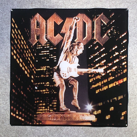 AC/DC Stiff Upper Lip Coaster Custom Ceramic Tile - CoasterLily Tiles