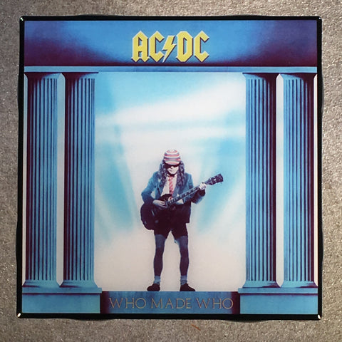 AC/DC Who Made Who Coaster Custom Ceramic Tile - CoasterLily Tiles