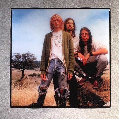 NIRVANA Coaster Custom Ceramic Tile Band Photo - CoasterLily Tiles