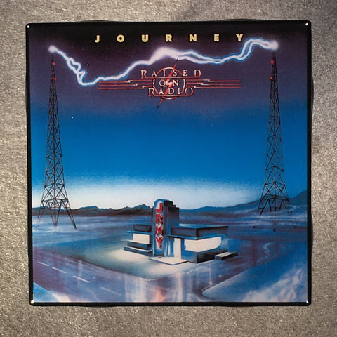 JOURNEY Raised On Radio Coaster Ceramic Tile Custom - CoasterLily Tiles