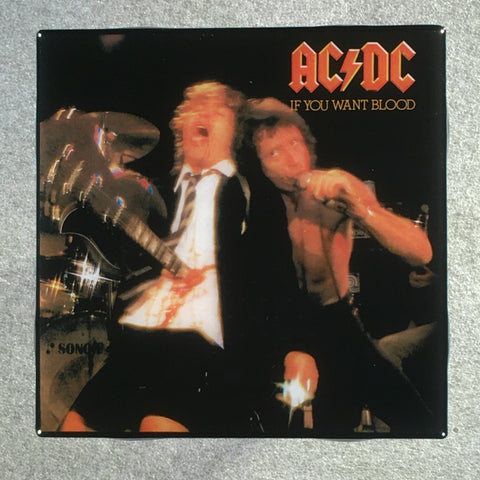 AC/DC If You Want Blood Coaster Custom Ceramic Tile - CoasterLily Tiles