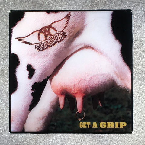 AEROSMITH Get A Grip Coaster Custom Ceramic Tile - CoasterLily Tiles
