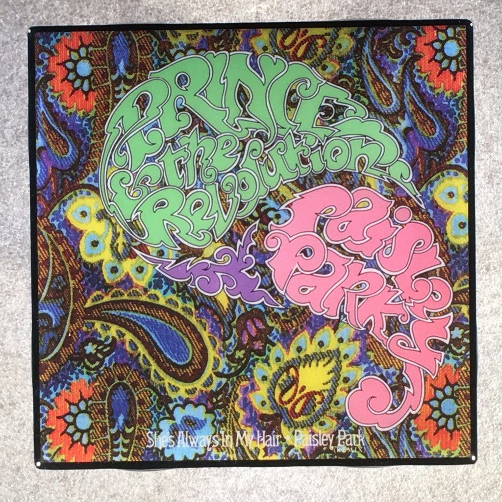 PRINCE She's Always In My Hair Paisley Park Coaster Custom Ceramic Tile