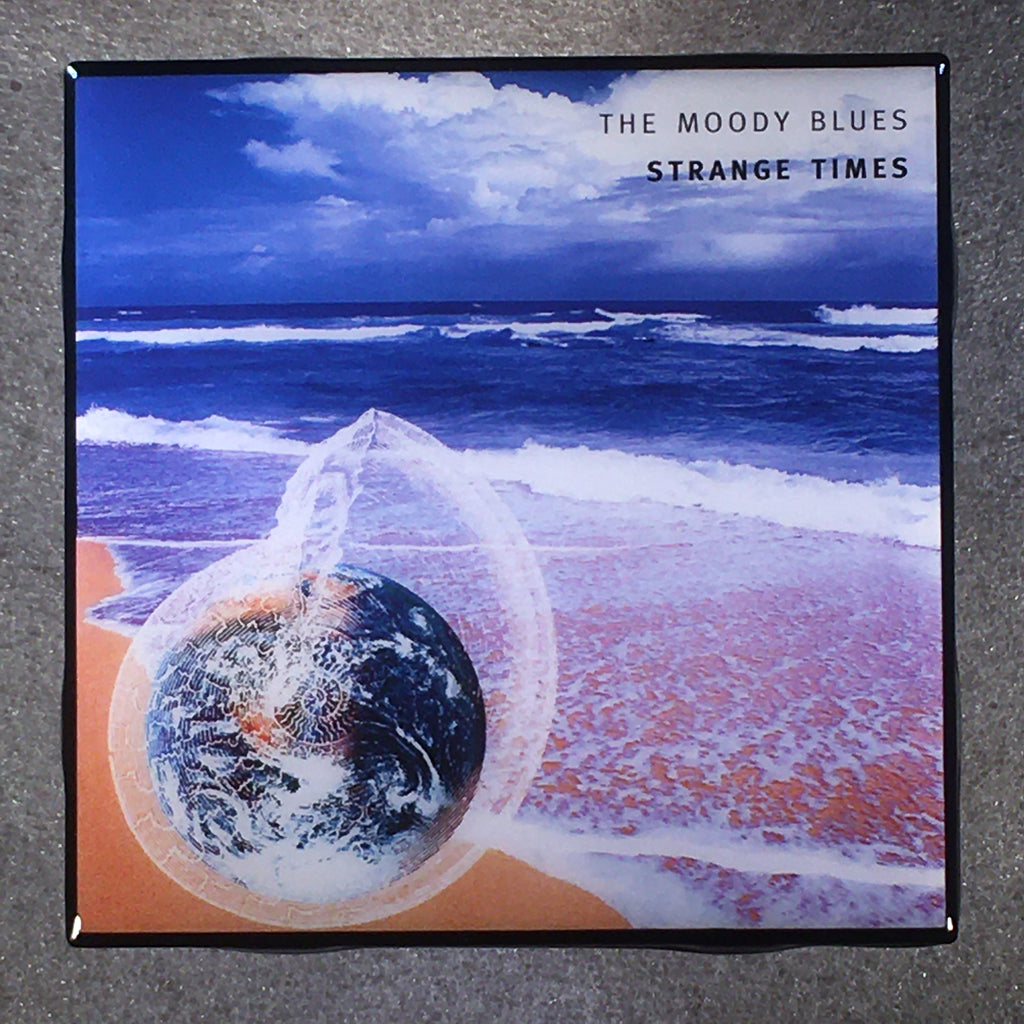 THE MOODY BLUES Strange Times Coaster Custom Ceramic Tile