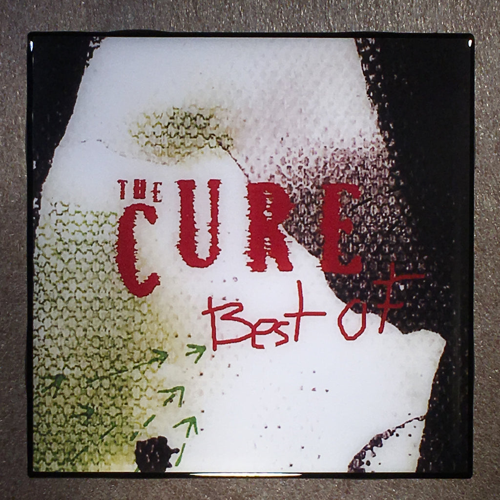 THE CURE Best Of Coaster Record Cover Ceramic Tile