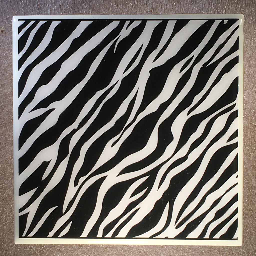 Zebra Skin Coaster Ceramic Tile - CoasterLily Tiles