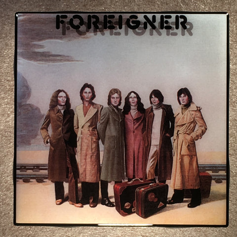 FOREIGNER s/t Coaster Record Cover Ceramic Tile - CoasterLily Tiles