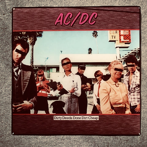 AC/DC Dirty Deeds Done Dirt Cheap Coaster Custom Ceramic Tile - CoasterLily Tiles