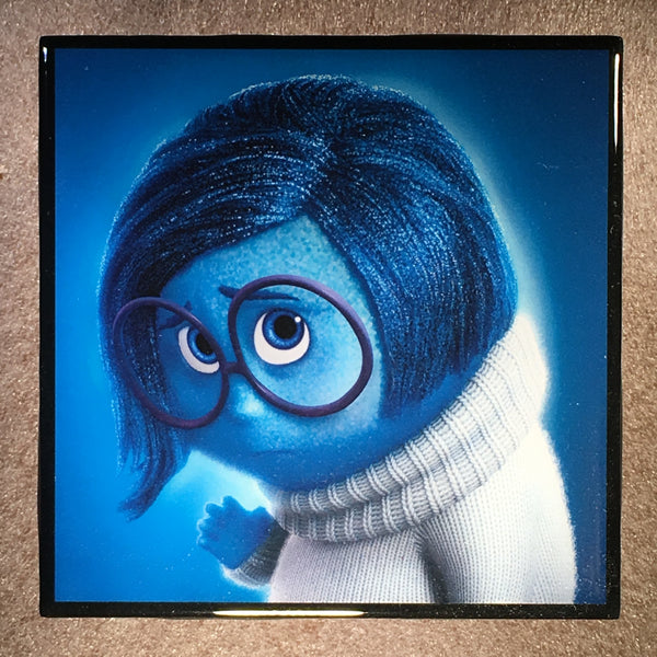 Sadness From Inside Out Coaster Movie Ceramic Tile