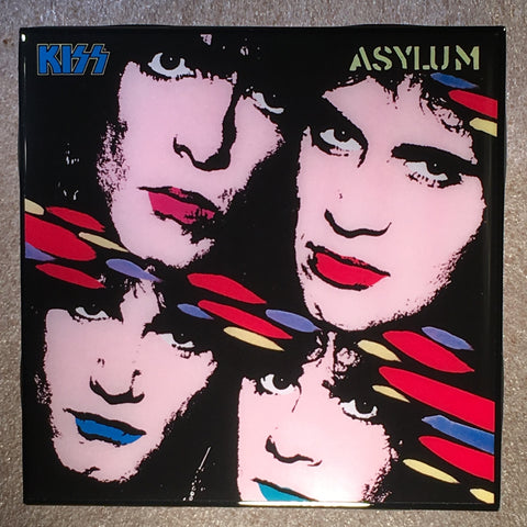 KISS Asylum Coaster Record Cover Ceramic Tile - CoasterLily Tiles