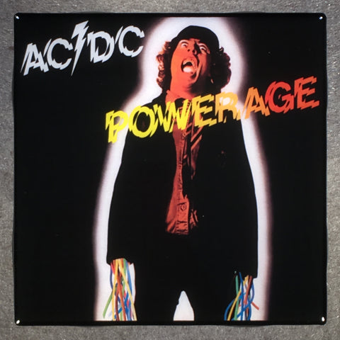 AC/DC Powerage Coaster Ceramic Tile Record Cover - CoasterLily Tiles