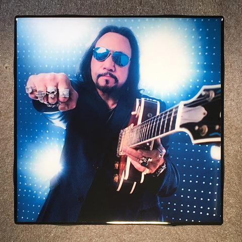 Ace Frehley Coaster KISS Ceramic Tile - CoasterLily Tiles