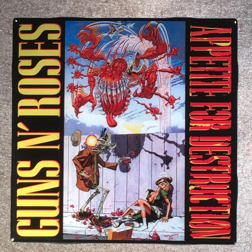 GUNS N' ROSES Appetite For Destruction Coaster Custom Ceramic Tile Robot - CoasterLily Tiles