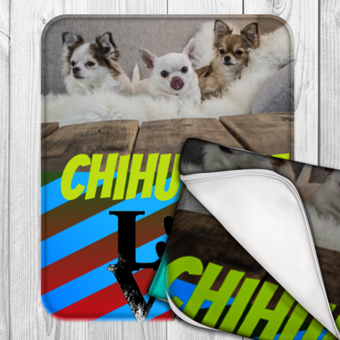 50 x 60 - Personalized Chihuahua Fleece Blanket - Design Your Own - Free Shipping
