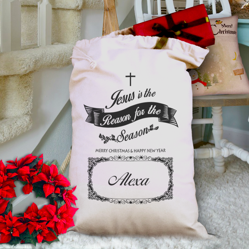 Jesus Is The Reason Personalized Christmas Gift Bag – Homemade ...
