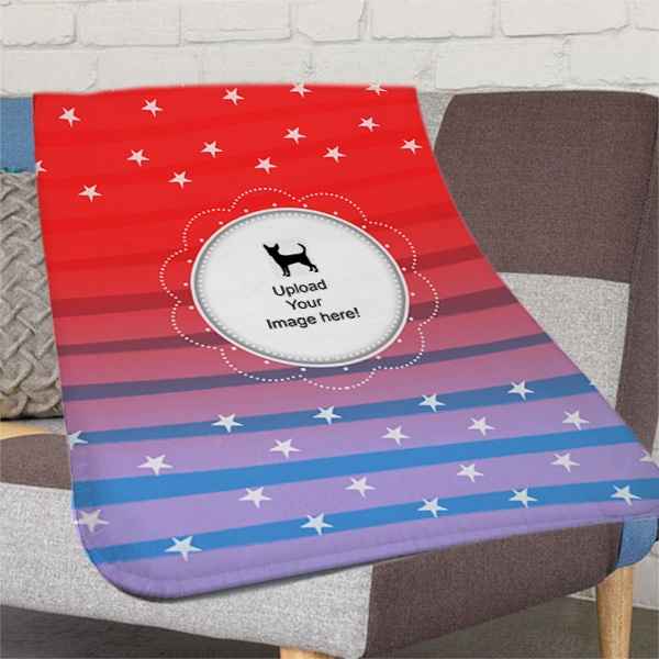 29 x 39 -  Chihuahua Baby Fleece Snuggle Blanket - Printable Front & Back - Free Shipping