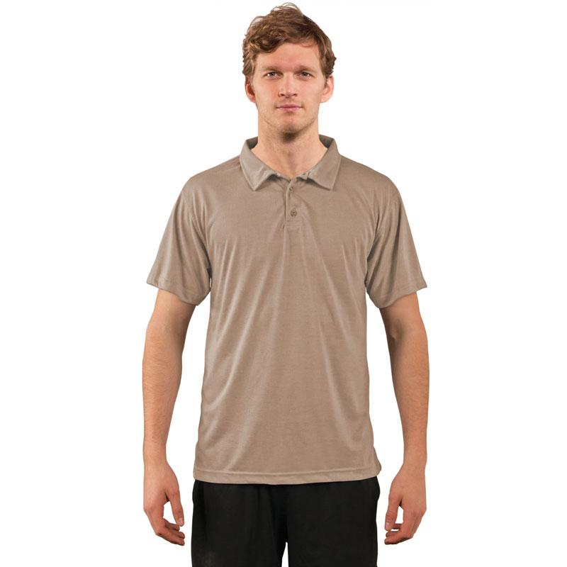 Vapor® Performance Adult Polo Golf Shirt - Sand - Medium
