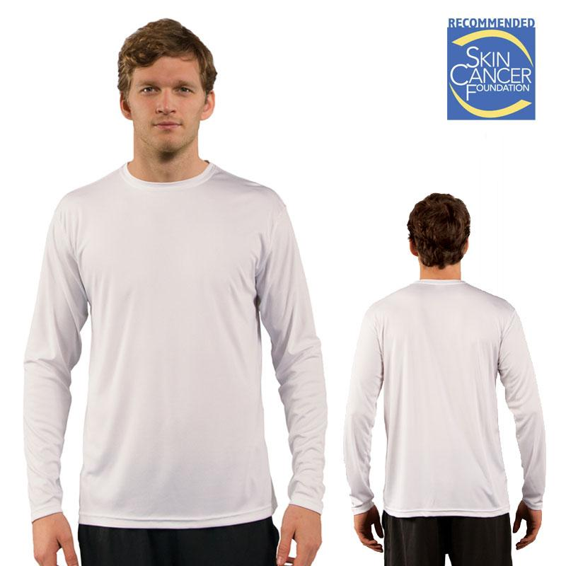 Sublimation Vapor Solar Tee - Long Sleeve - White - Medium