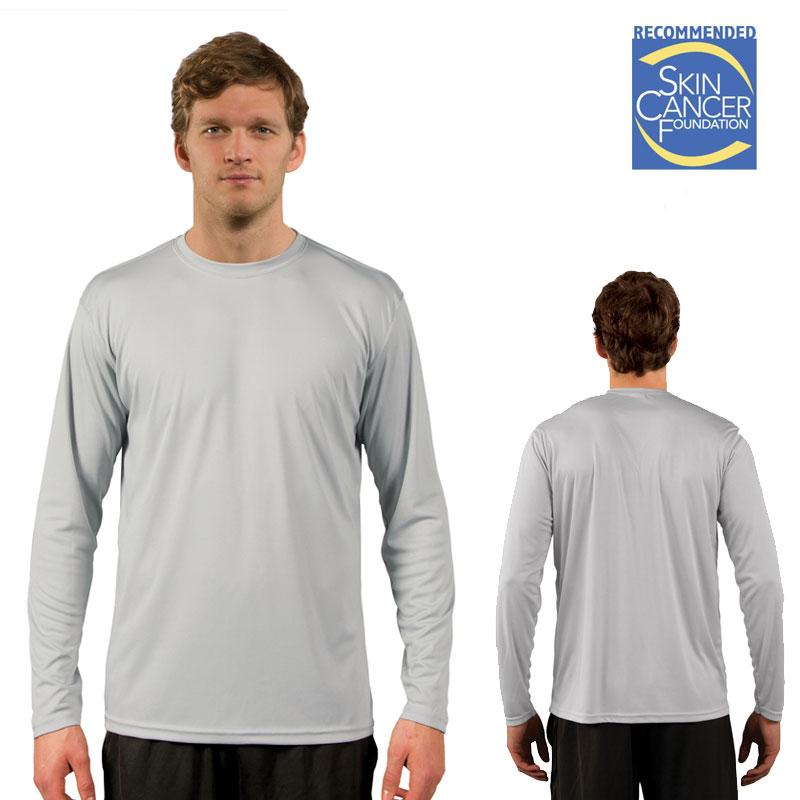 Dye Sub Solar Long Sleeve Tee - Adult - Pearl Gray - XS