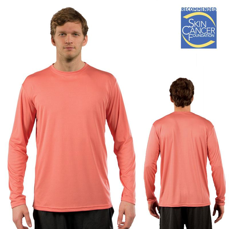 Sublimation Solar Long Sleeve Tee - Adult - Salmon - XS