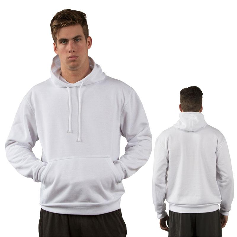 Adult Basic Hoodie Sweatshirt - Brighter White - Small