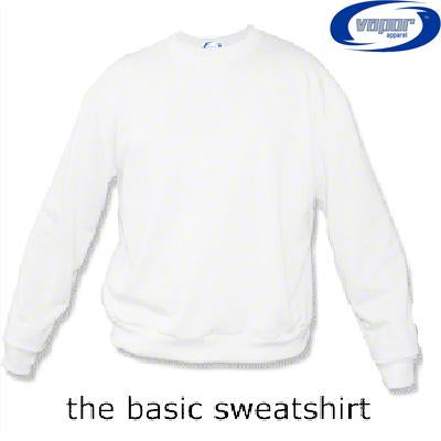 Adult Vapor Basic Crew Sweatshirt - Brighter White - Small