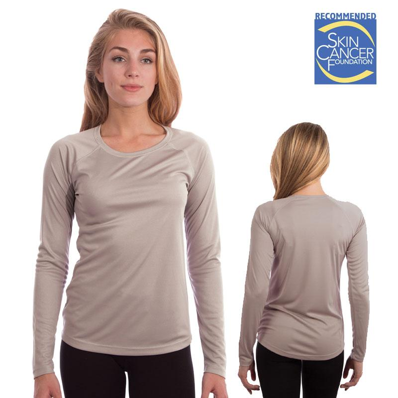 Vapor Ladies Long Sleeve Solar T - Athletic Gray - Medium