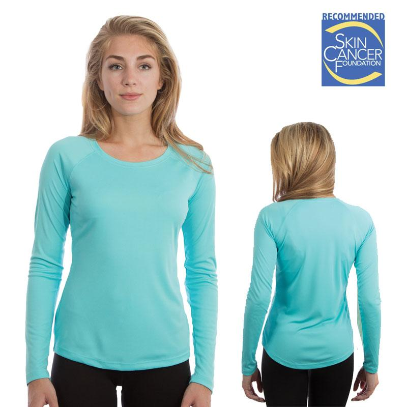 Vapor Ladies Long Sleeve Solar Tee - Water Blue - Small