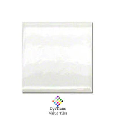 "DyeTrans Sublimation Blank Ceramic Value Tile - 4"" x 4"" - Gloss"