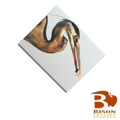 "Bison Sublimation Blank Ceramic Tile - 6"" x 8"" - Satin"