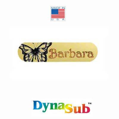 "DynaSub Sublimation Blank Aluminum Hair Barrrette - .75"" x 3"" - Oblong - Satin Gold"