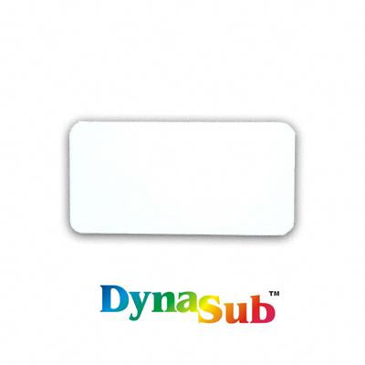 1.5x3 ID Badge DynaSub® Aluminum - White Gloss