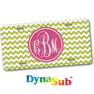 DynaSub Sublimation Blank Aluminum License Plate - White Gloss