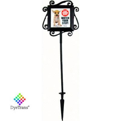 "DyeTrans Wrought Iron Garden Stake for Select 4"" Tiles"