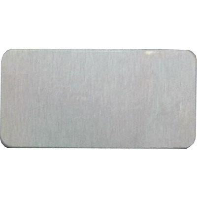 1.5x3 Satin Silver Name Badge DyeTrans® Aluminum