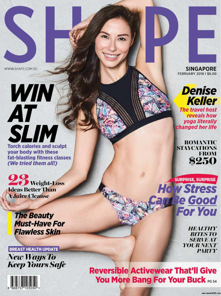 Body Glove Swimsuit on the Cover of Shape Singapore February 2018
