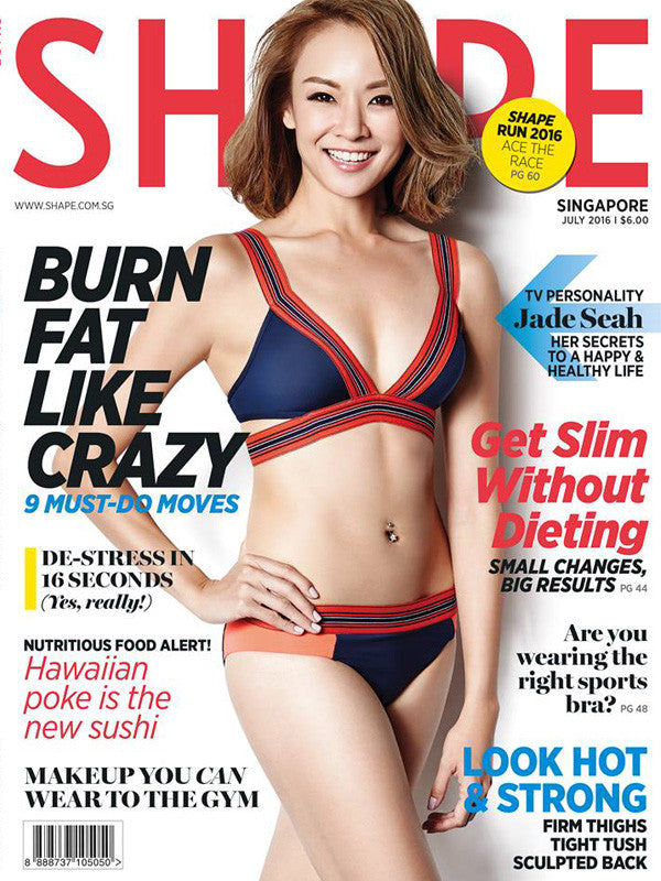 JETS Swimsuit on the Cover of Shape Singapore July 2016