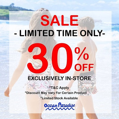 30% OFF Selected Swimsuit Brand for All Ages