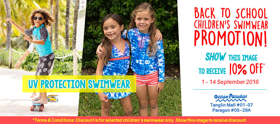 Back to School Children's Swimwear Promotion!