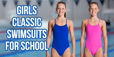 Classic Girls' Racerback Swimsuits for School