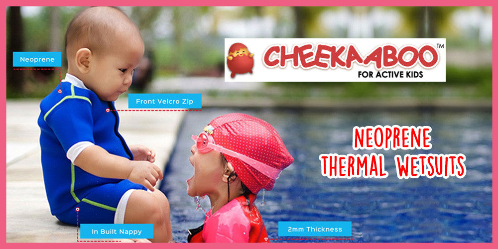Neoprene Thermal Wetsuits for Babies and Toddlers by Cheekaaboo