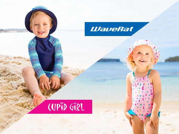 UPF 50+ Swimsuits for Boys & Girls from Wave Rat & Cupid Girl