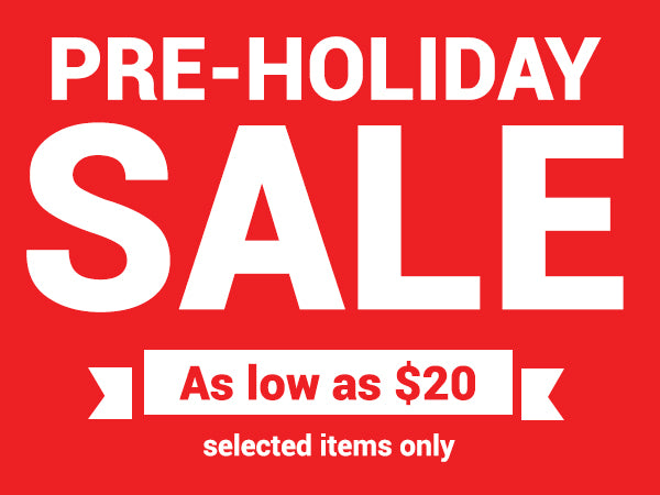 The Pre-Holiday Sale 2017