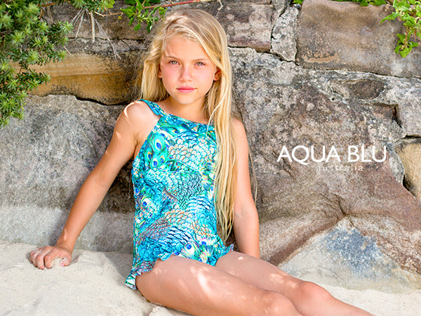 Gorgeous New Sun Protection Swimsuits for Kids from Aqua Blu