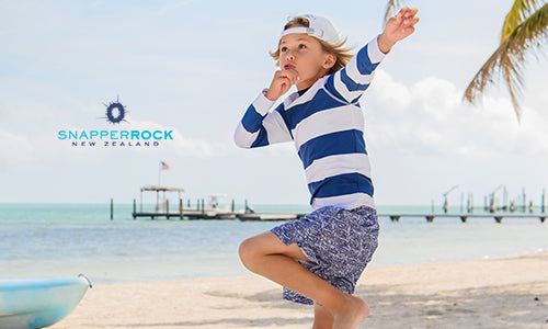 Stay Shielded with Snapper Rock UPF50+ Kids' Swimwear