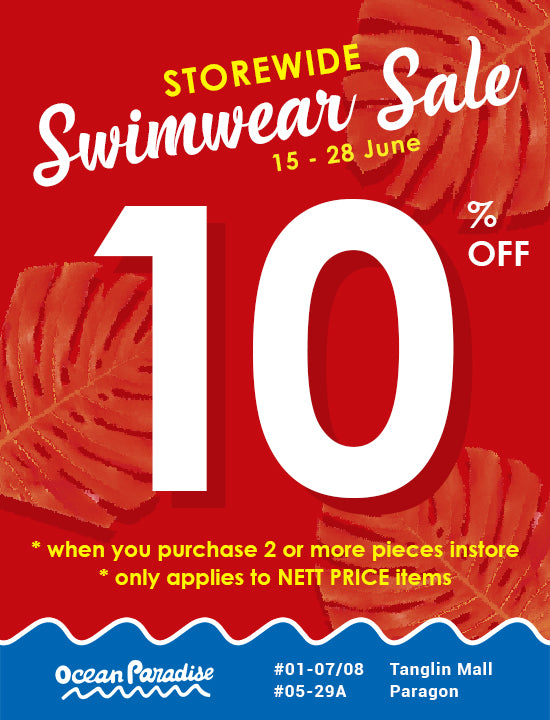 Swimwear 10% OFF Storewide !