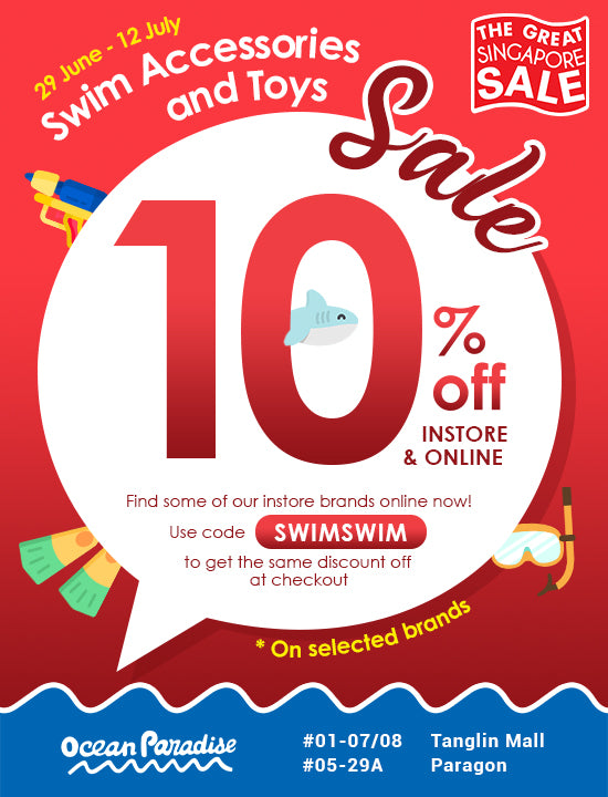 Stock up on Swim Accessories & Swim Toys at 10% Off