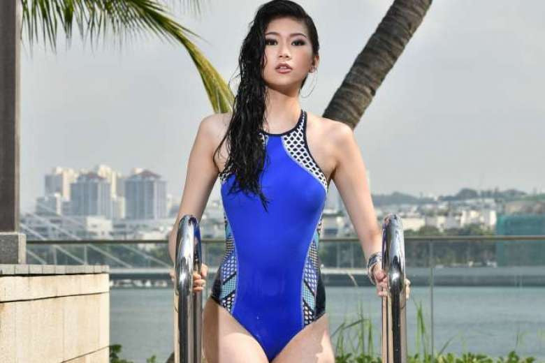 Ladies One-Piece Swimsuits in Straits Time September 2015