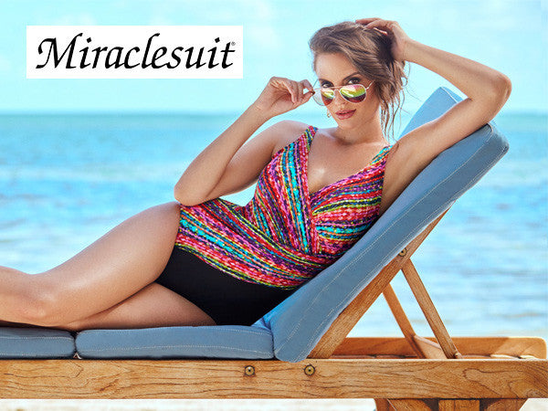 Look 10 pounds Slimmer in Miraclesuit Swimwear