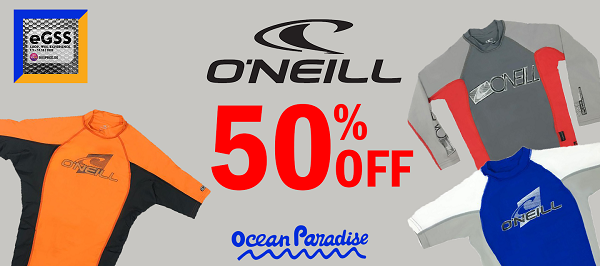 Great Singapore Sale (GSS): O'Neill Rashguards 50% OFF
